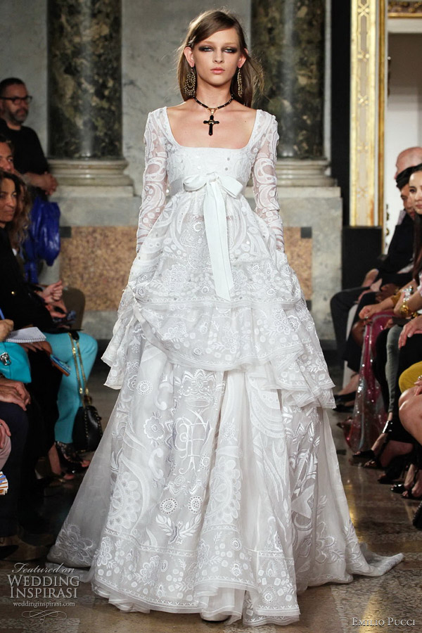 How Do Emilio Pucci Dresses Run Wedding gowns by emilio pucci